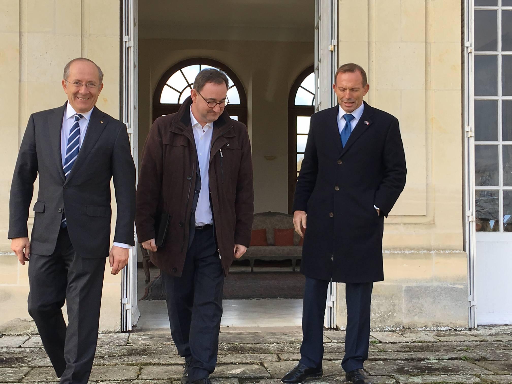 SEM Ambassador Stephen Brady - Stanislas de Clermont-Tonnerre - PM Tony Abbott
