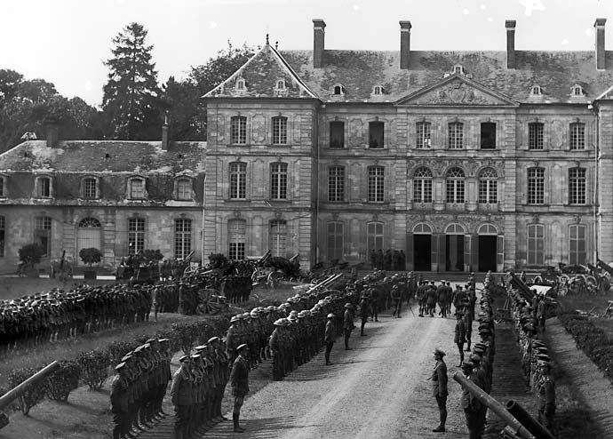 Arrivée de George V à bertangles